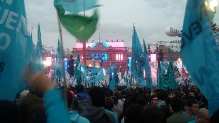 La multitud de personas en el discurso de CFK